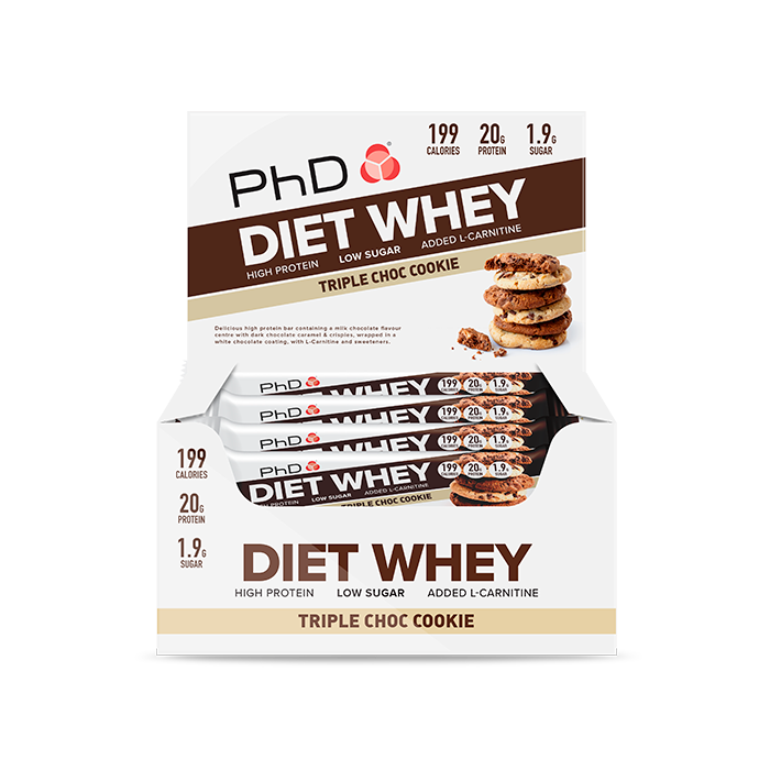 Diet Whey Bar Triple Chocolate Cookie - 12 pack