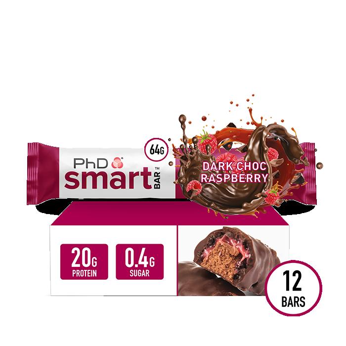 Smart Bar Dark Choc Raspberry - 12 pack