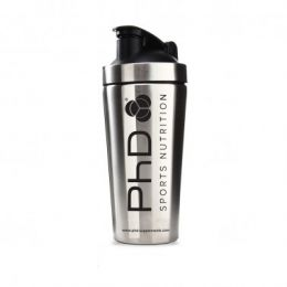 PhD Nutrition Stainless Steel Silver Shaker