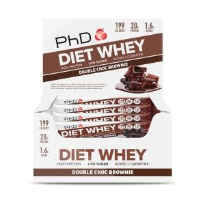 Diet Whey Bar 12x65g Double Chocolate Brownie