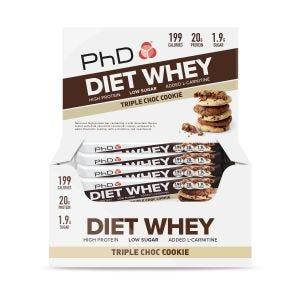 Diet Whey Bar 12x65g Triple Chocolate Cookie