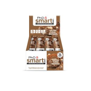 PhD Smart Bar - Salted Fudge Brownie - 12 x 64g