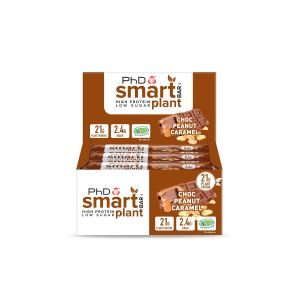 Smart Bar Plant Choc Peanut Caramel - 12 pack