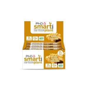 Smart Bar Plant Choc Toffee Popcorn - 12 pack