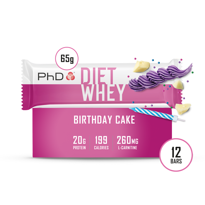 Diet Whey Bar Birthday Cake - 12 pack